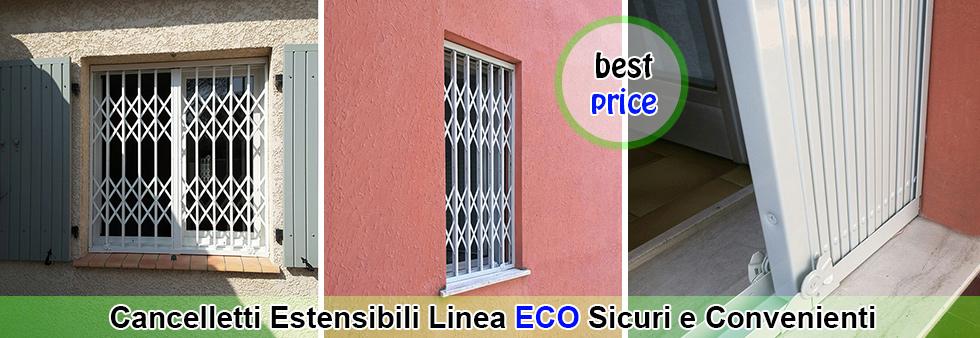 listino prezzi cancelletti estensibili linea eco