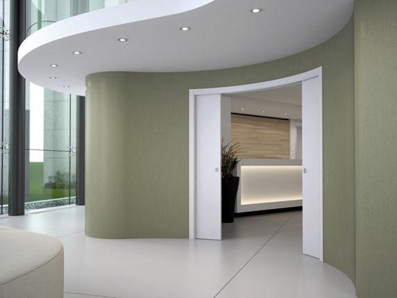 Preventivo controtelaio curvo per porte scorrevoli parete for Parete in cartongesso con porta