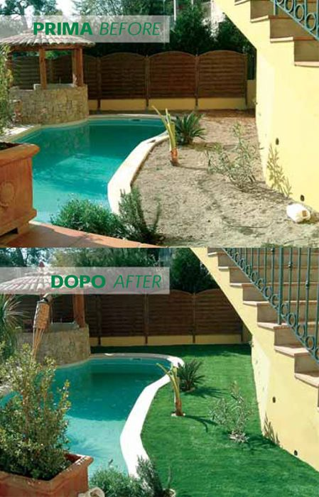 Preventivo erba naturale sintetica per giardini e piscine for Erba per giardino