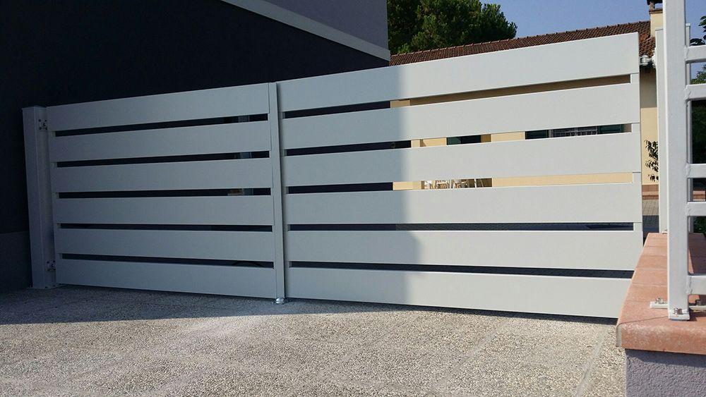 Cancello Esterno Moderno : Preventivo cancello carrabile in ferro moderno con carter 200 su