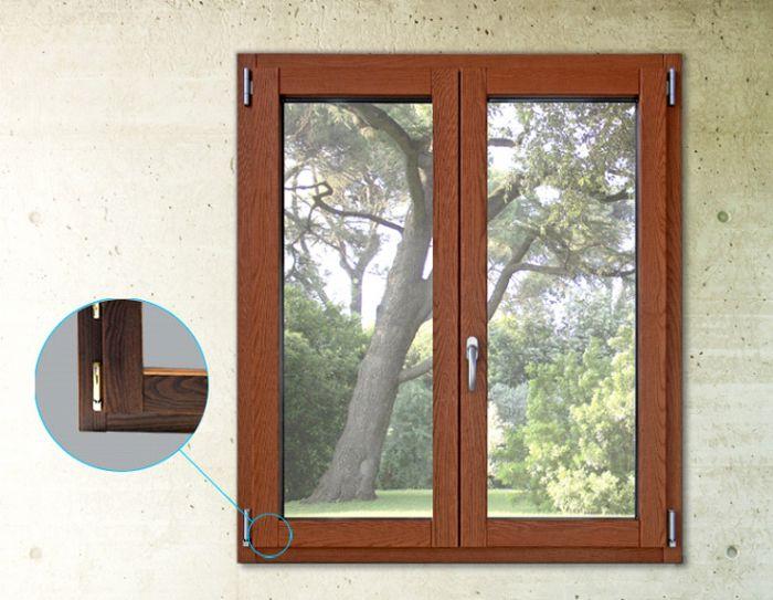Finestra fissa in alluminio legno bologna for Finestra in alluminio