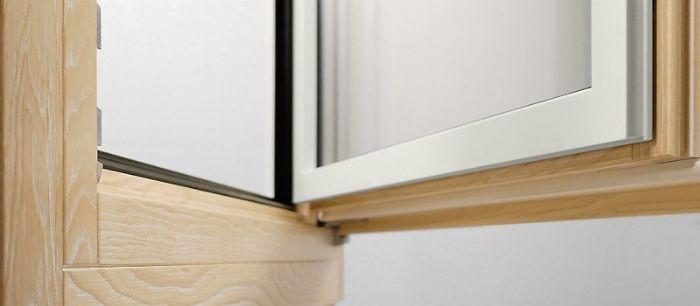 Finestra legno alluminio 1 anta con sottoluce fisso bologna for Trasmittanza infissi