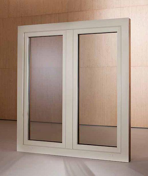 Finestra 2 ante in legno alluminio bologna for Finestra in alluminio