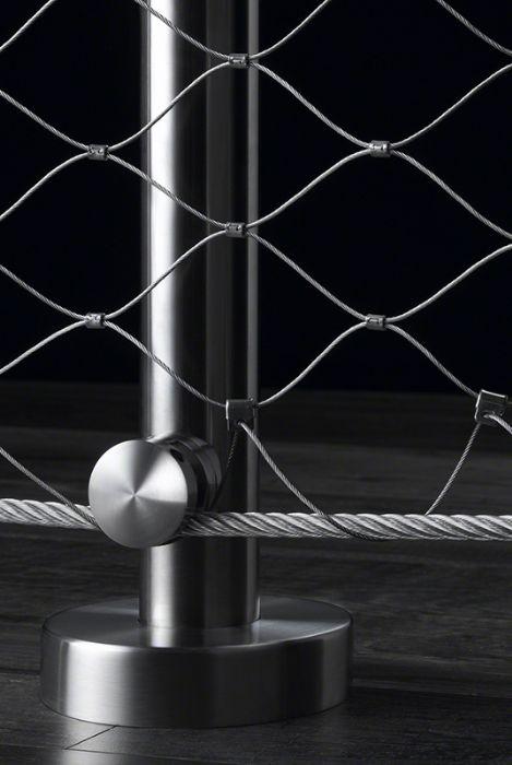 Parapetto in acciaio inox con rete metallica inox bologna for Cavi acciaio arredamento
