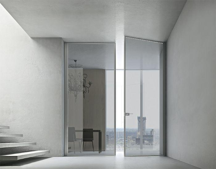 Preventivo porta interna tutto alluminio e vetro apribile a battente 2 ante bologna - Prezzo porta interna ...