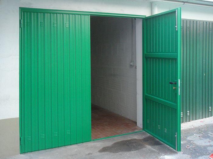 Portoni A Due Ante Per Garage Prezzi.Porta In Lamiera 2 Ante Per Garage Bologna