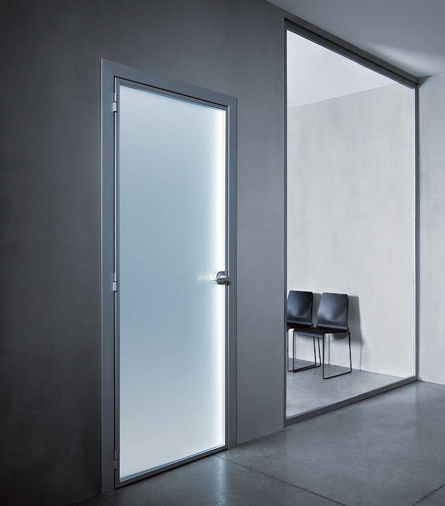 Preventivo porta interna in alluminio vetro per uffici bologna - Vetro per porta interna ...