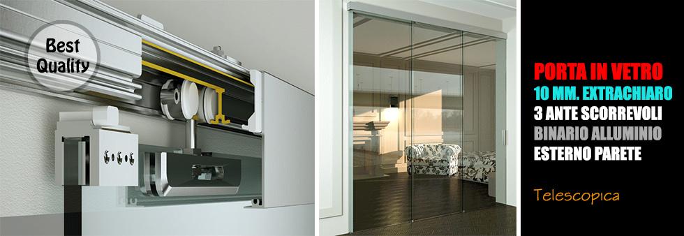 Porta Scorrevole 3 Ante.Listino Prezzi Porte In Vetro Classiche E Moderne