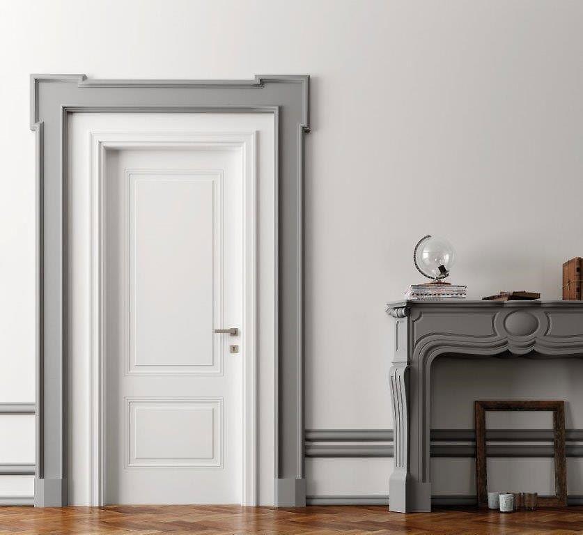 Porta interna pantografata classica con 2 bugne bologna for Porta interna bianca con vetro