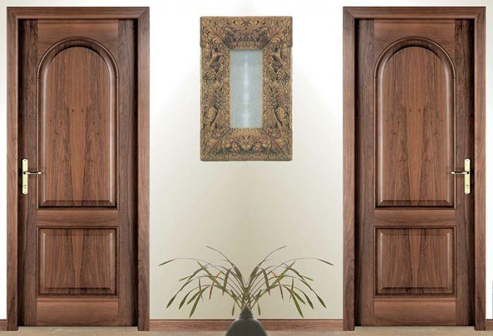 Porta interna classica in legno linea tradizionale 2 bugne - Porta ad arco ...
