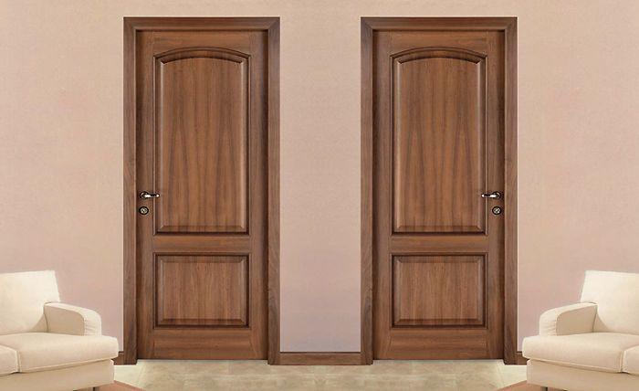 Porta interna classica in legno linea tradizionale 2 bugne - Porte con bugne ...