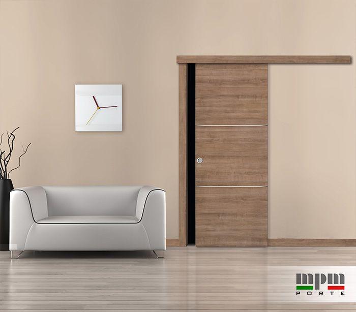 Preventivo porta interna in laminato con 2 inserti alluminio bologna - Verniciare porte interne laminato ...