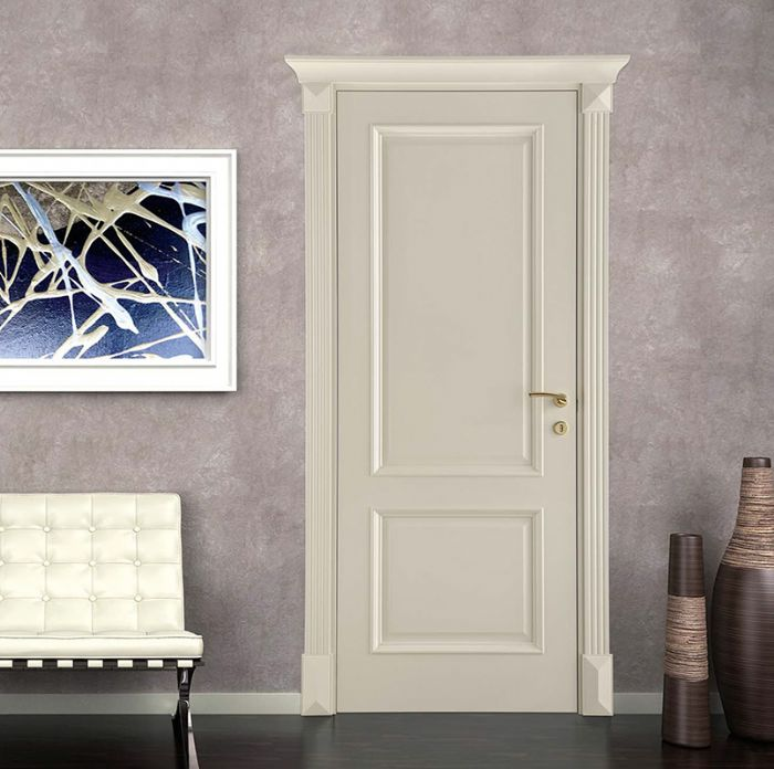 Porta interna classica in legno stile veneziano con capitelli bologna - Costo porte interne ...