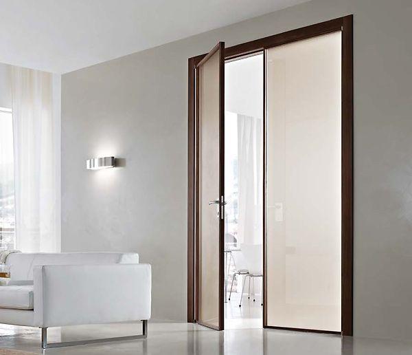 Porta interna in metallo e vetro apertura a battente bologna - Porta interna vetro ...