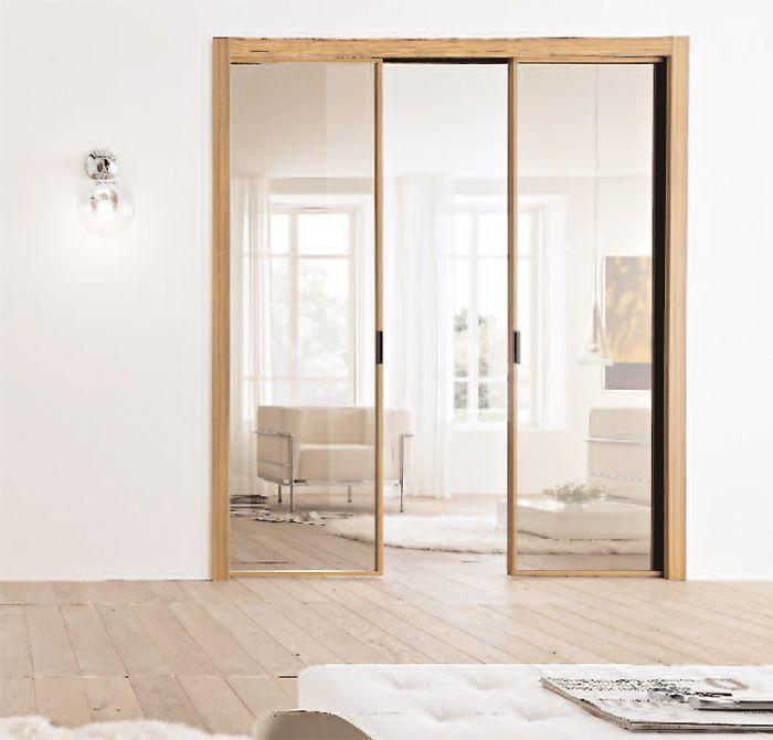 Porta interna in metallo e vetro apertura scorrevole a scomparsa bologna - Porta scorrevole interna ...