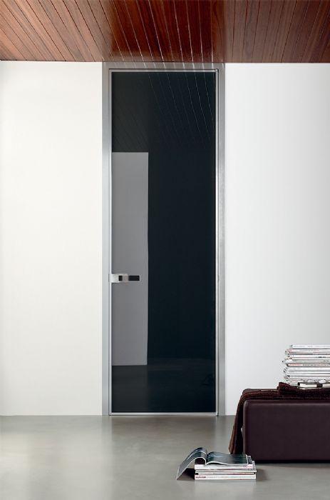 Preventivo porta interna tutto alluminio e vetro apribile a battente bologna - Prezzo porta interna ...