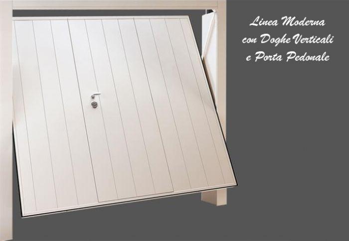 Porta basculante moderna per garage bologna - Basculante con porta pedonale prezzo ...