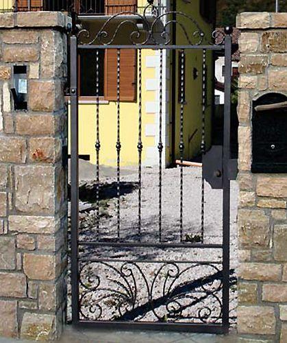 Preventivo cancello pedonale in ferro battuto apribile a - Cancelletto in ferro battuto ...