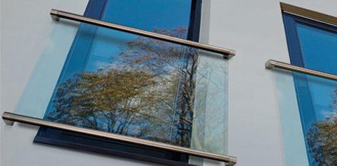 Preventivo parapetto in vetro alla francese con corrimano inox oltre luce bologna - Finestre apertura alla francese ...