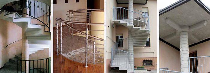 Preventivo scala a chiocciola prefabbricata linea classica - Scale a chiocciola in cemento prefabbricate ...