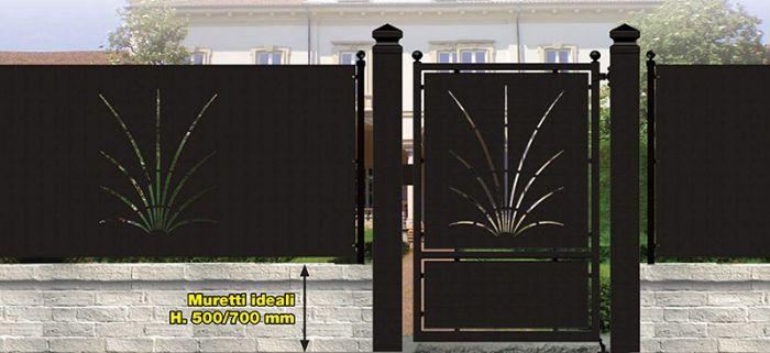 Preventivo recinzione in ferro battuto con pannello traforato linea riservata bologna - Recinzioni da giardino prezzi ...