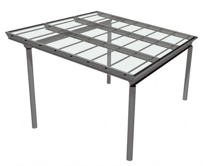Pergola autoportante in alluminio e policarbonato per auto for La pergola prezzi