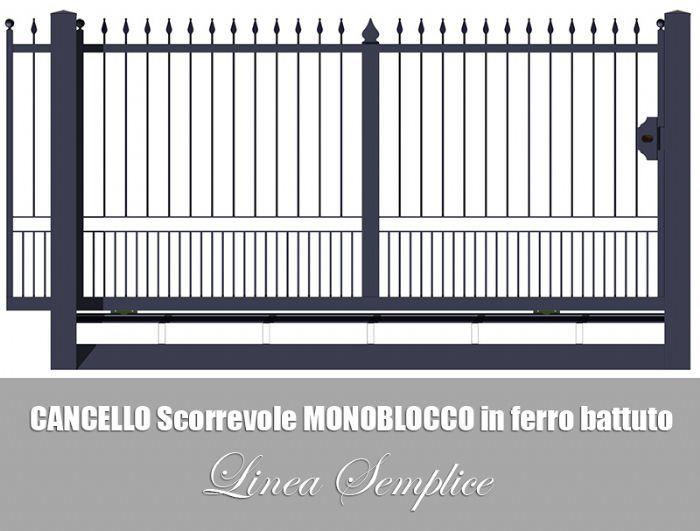 Preventivo cancello monoblocco carrabile scorrevole linea for Cancello scorrevole monoblocco