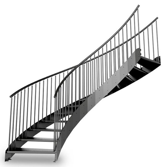 Scala elicoidale in acciaio con gradini in ferro bologna - Scala esterna in ferro ...