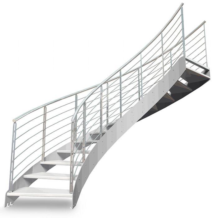Scala in acciaio elicoidale con gradini in legno bologna for Scala elicoidale dwg