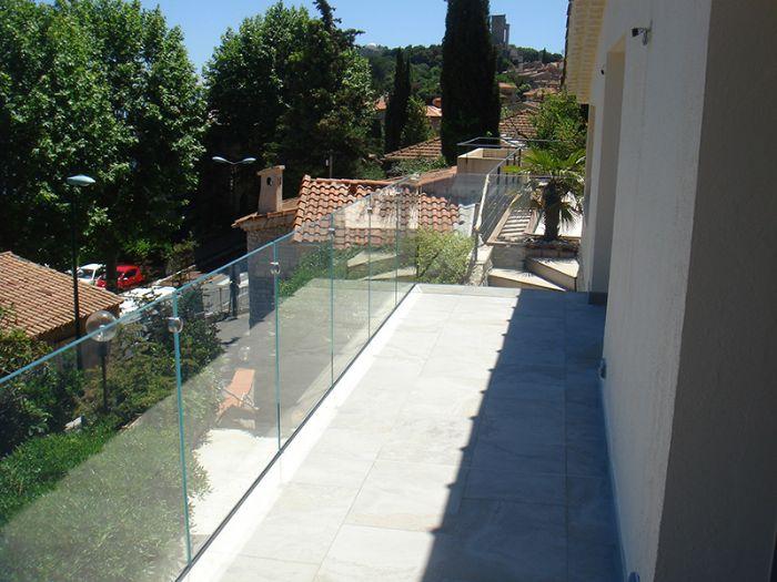 Ringhiere di vetro with ringhiere di vetro coperta di - Parapetto terrazzo ...
