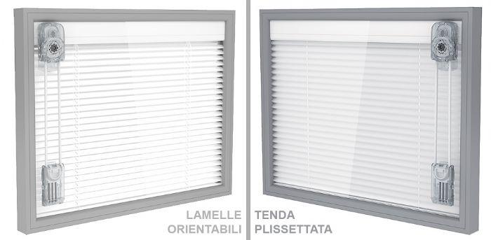 Veneziana interno vetro a lamelle orientabili comando - Vetrocamera con veneziana ...