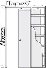 Preventivo controtelaio novanta per porte scorrevoli - Controtelaio per porta scorrevole prezzo ...