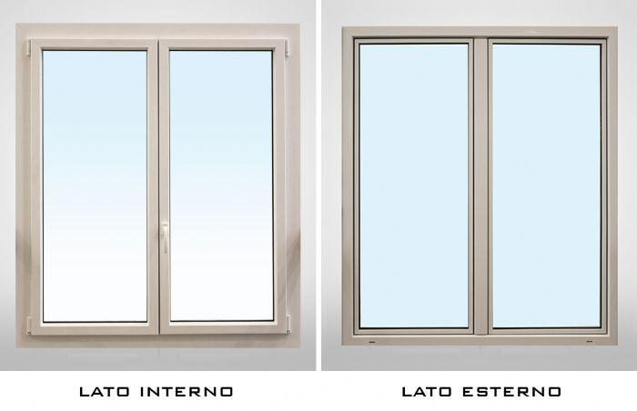 Finestra pvc alluminio minimale 2 ante bologna - Aprire finestra muro esterno ...
