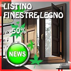 PREVENTIVO Finestra in LEGNO 2 ante