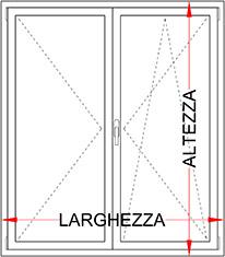 Finestra Pvc Alluminio Minimale 2 Ante Bologna