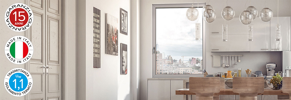 Listino prezzi finestre alluminio sottile moderno for Architecture minimale