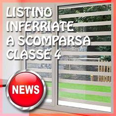 PREVENTIVO Inferriata Scorrevole a Scomparsa Classe 4 Linea Moderna