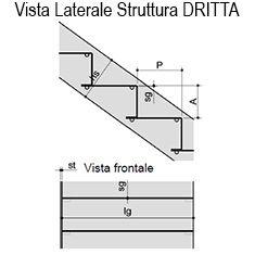 Scala rettilinea con alzata e pedata continua bologna - Alzata scale interne ...