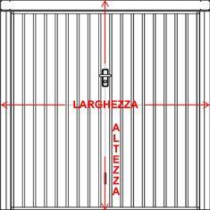 Preventivo porta basculante standard per garage bologna - Misura porta standard ...