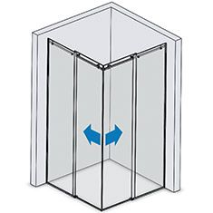 Box Doccia A 2 Ante.Preventivo Box Doccia Tutto Vetro Ad Angolo 2 Ante Scorrevoli Linea