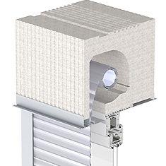 Cassonetto casaclima in eps a scomparsa per finestre con for Finestre pvc con tapparelle