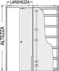 Preventivo controtelaio unico luce per porte scorrevoli parete cartongesso bologna - Porta a scrigno misure ...