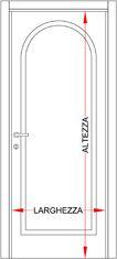 Porta interna pantografata classica con 1 bugna ad arco bologna - Prezzo porta interna ...