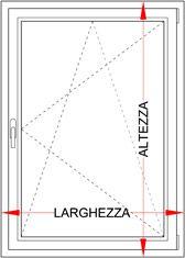 Preventivo finestra pvc 1 anta con ribalta bologna - Finestra vasistas meccanismo ...