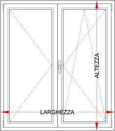Finestra pvc 2 ante con ribalta bologna for Finestre velux misure standard