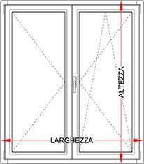 Finestra alluminio legno 2 ante bologna - Dimensioni standard finestre ...