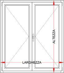 Preventivo finestra in legno 2 ante bologna - Telaio finestra legno ...