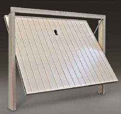 Preventivo porta basculante a doghe larghe verticali linea - Basculante con porta pedonale prezzo ...