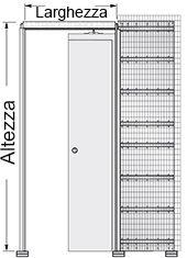 Preventivo controtelaio novanta per porte scorrevoli parete intonaco bologna - Porta scorrevole misure ...