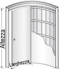 Preventivo controtelaio curvo per porte scorrevoli parete - Porta scorrevole curva ...